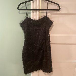 Fashion Nova Black Sequin Mini Dress